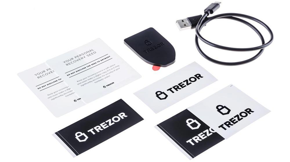 Trezor Model T Box Contents